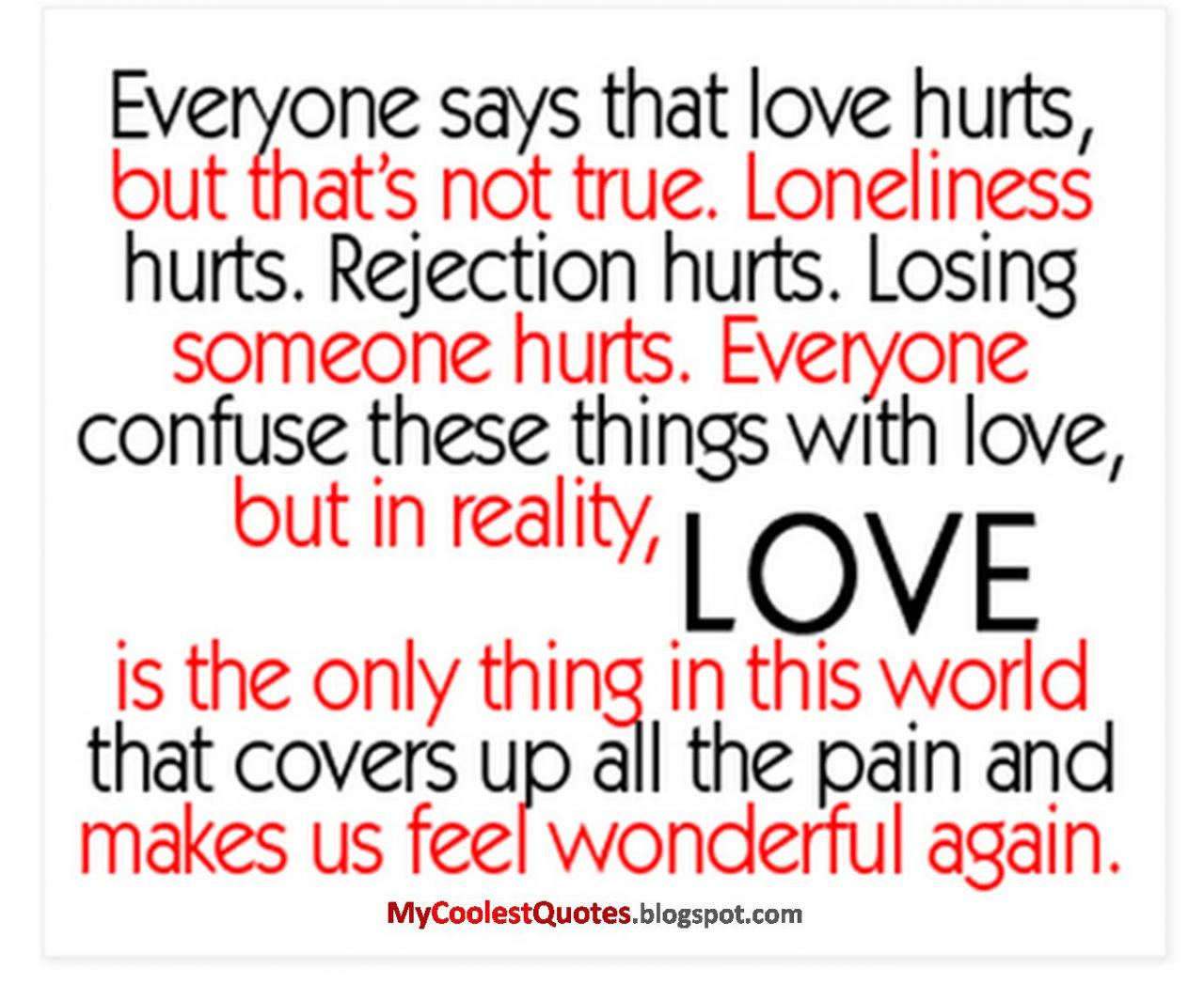My Coolest Quotes Does Love Really Hurt