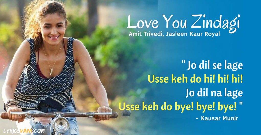 Love You Zindagi Lyrics