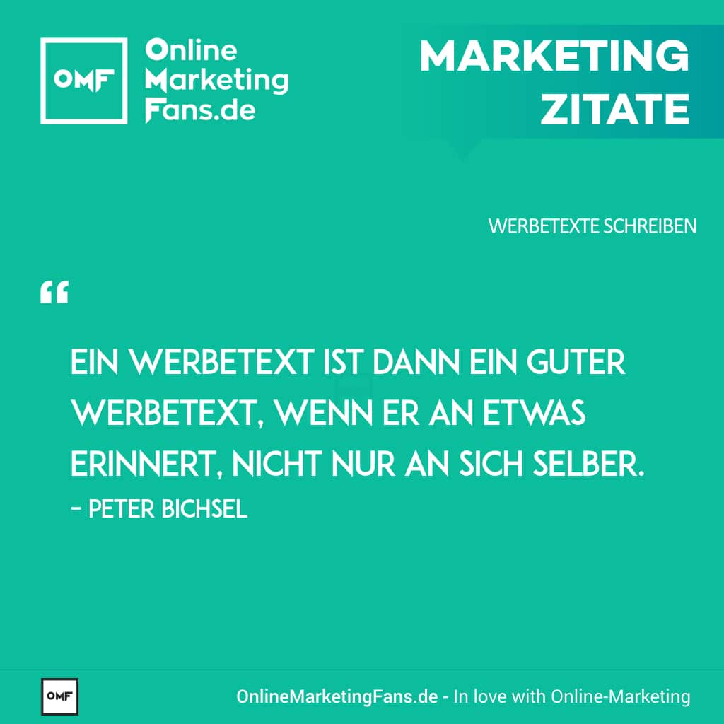 Marketingzitate Peter Bichsel Guter Werbetext Copywriting Werbetexte