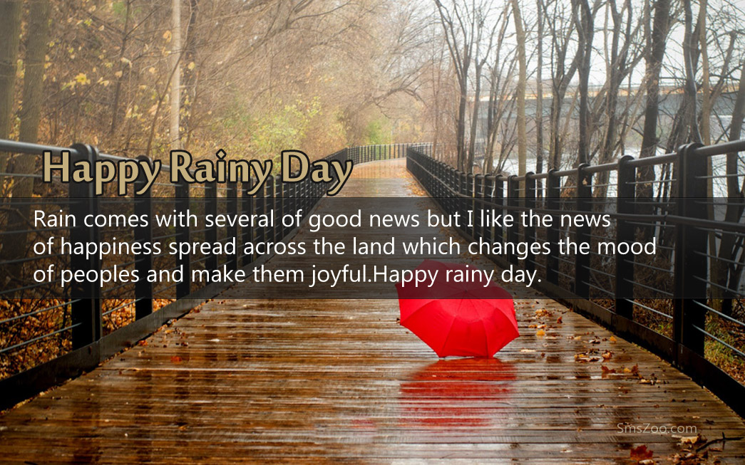 Rainy Day Sms Quotes With Picture