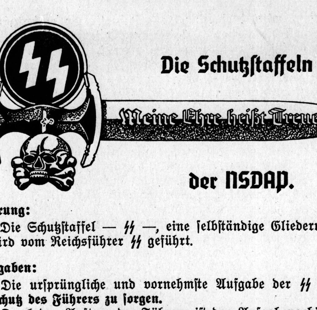Ss Dolch Meine Ehre Heisst Treue Nationalsozialismus Verbaende