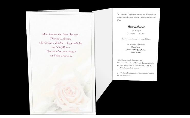 Trauerkarte Einladung Trauerfeier