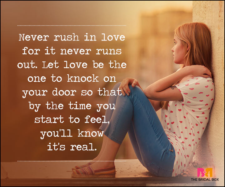 Waiting For Love Quotes Never Rush