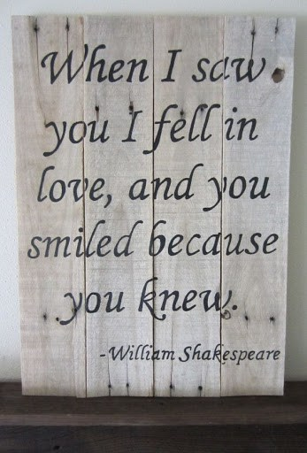 When I Saw You I Fell In Love Quote Shakespeare