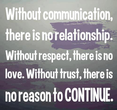Without Communication There Is No Relationship Without Respect There Is No Love Without Trust There Is No Reason To Continue