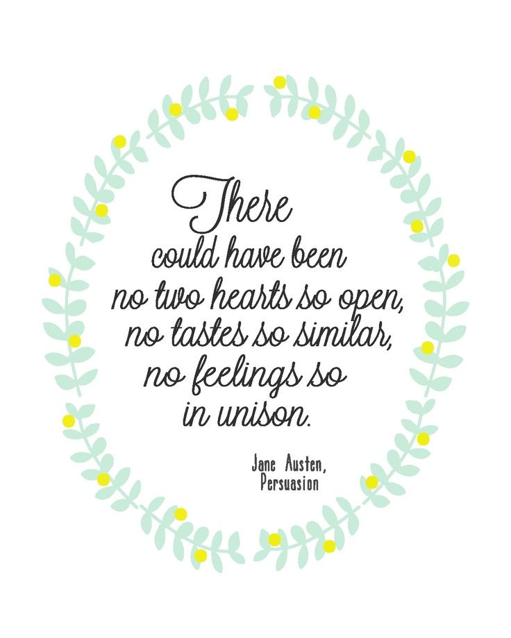 Jane Austen Quote Poster By Sophieandlu On Etsy