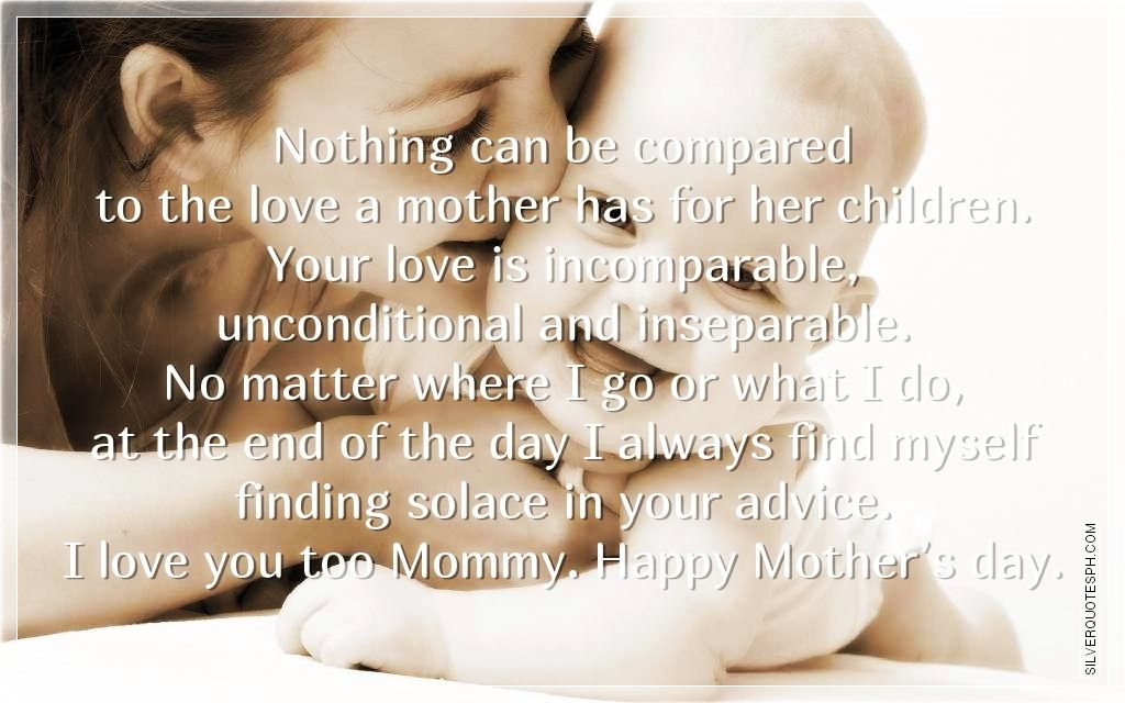 Beautiful Mothers Unconditional Love Quotes
