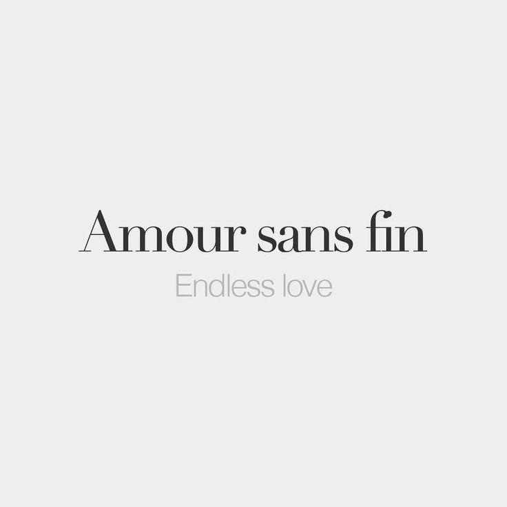Amour Sans Fin Masculine Word Endless Love A Mu Ca  Sa