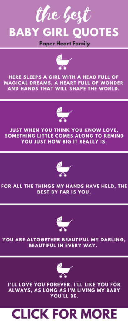 These Are The Best Of The Best Baby Girl Quotes For The Nursery Or Baby Book