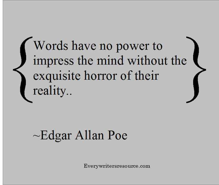 Edgar Allan Poe Writing Quote