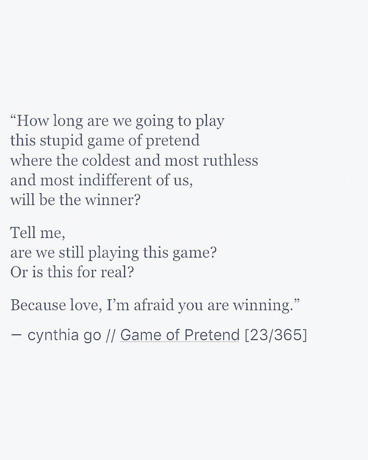 Game Of Pretend   Cynthia Go Writing Poetry