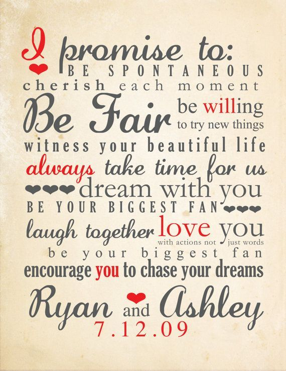 And Beats The Heck Out Of The Unimaginative Typical Marriage Vows Inspiration Wedding Vows Typography This Is A Great Idea