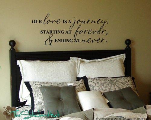 Our Love Is A Journey Wall Decals Vinyl Lettering Home Decor Decals Quote Saying Vinyl Wall Art Lettering Decals Stickers