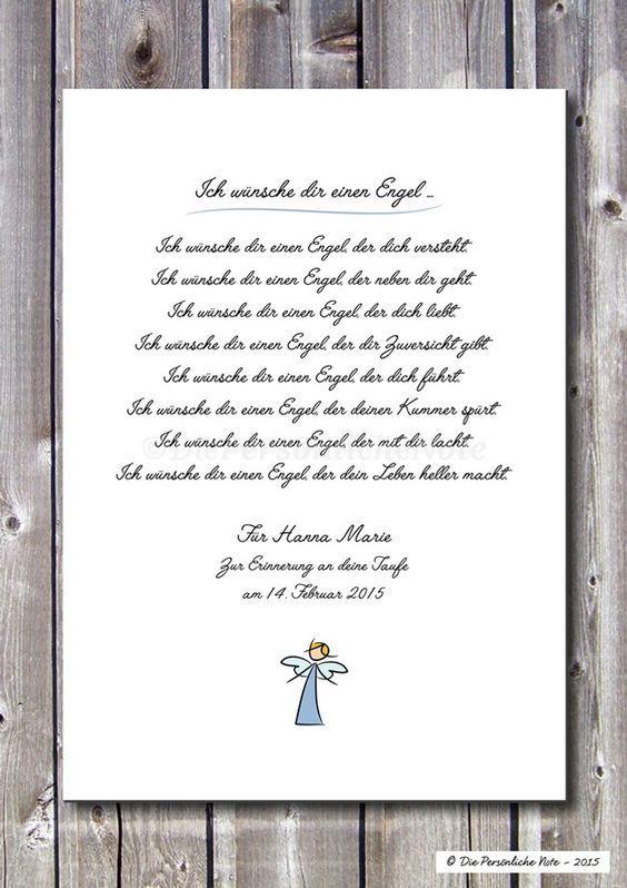 Druck Print Gedicht Segenswunsch Schutzengel Eine Wunderschone Geschenkidee Zur Geburt Zur Taufe Zur Kommunion Zum Geburtstag Oder Einfach Nur So