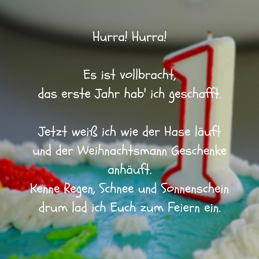 Erstes Jahr Vollbracht Als Spruch Fur Einladung Zum  Geburtstag Erstergeburtstag