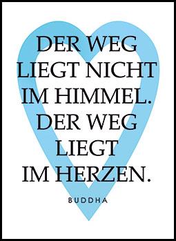Schriftbild Mit Hellblauem Herz