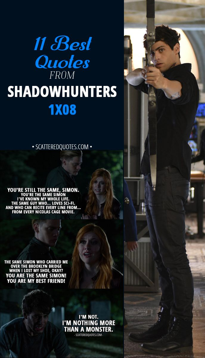 The Best Quotes From Shadowhunters X  E   Shadowhunters Quotes