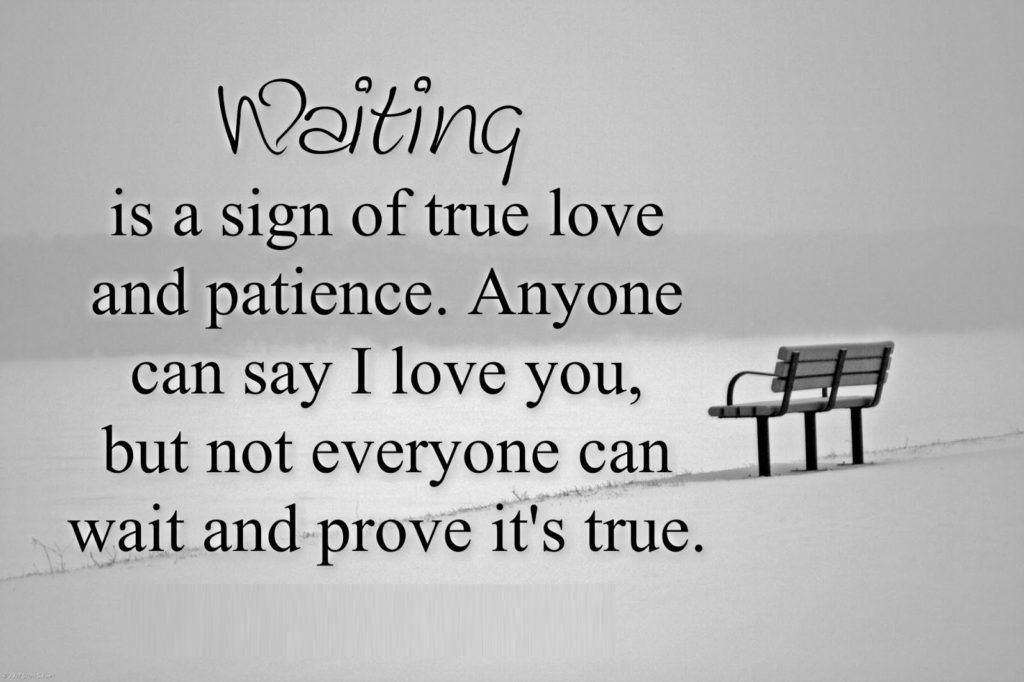 Was Asked To Prove My Love By Waiting Regardless Of The Silence And Internal Pain