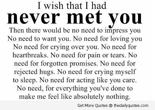 Sad Heart Broken Love Quotes Love I Wish Heart Broken