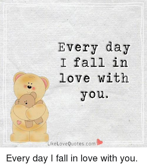 Fall Love And Memes Every Day I Fall In Love With You