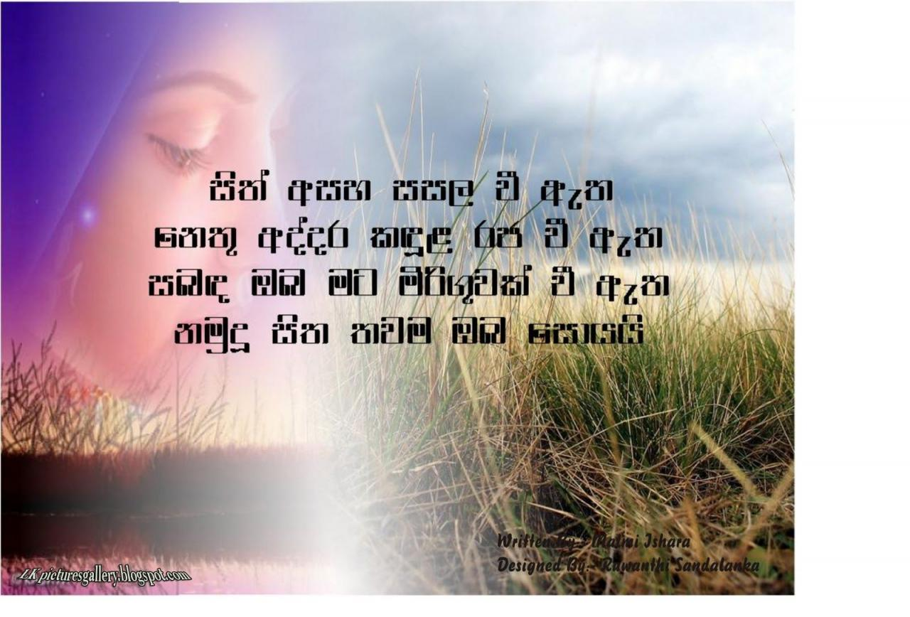 Beautiful Love Quotes In Sinhala Yckppaoh
