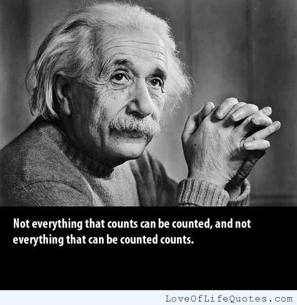 Albert Einstein Quote On Things That Count Http Www Loveoflifequotes