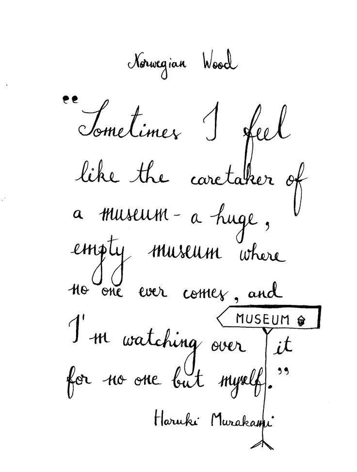 Haruki Murakami Norwegian Wood Books Quotes