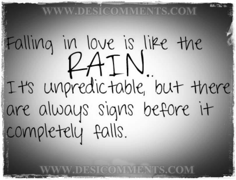 Falling In Love Is Like A Rain