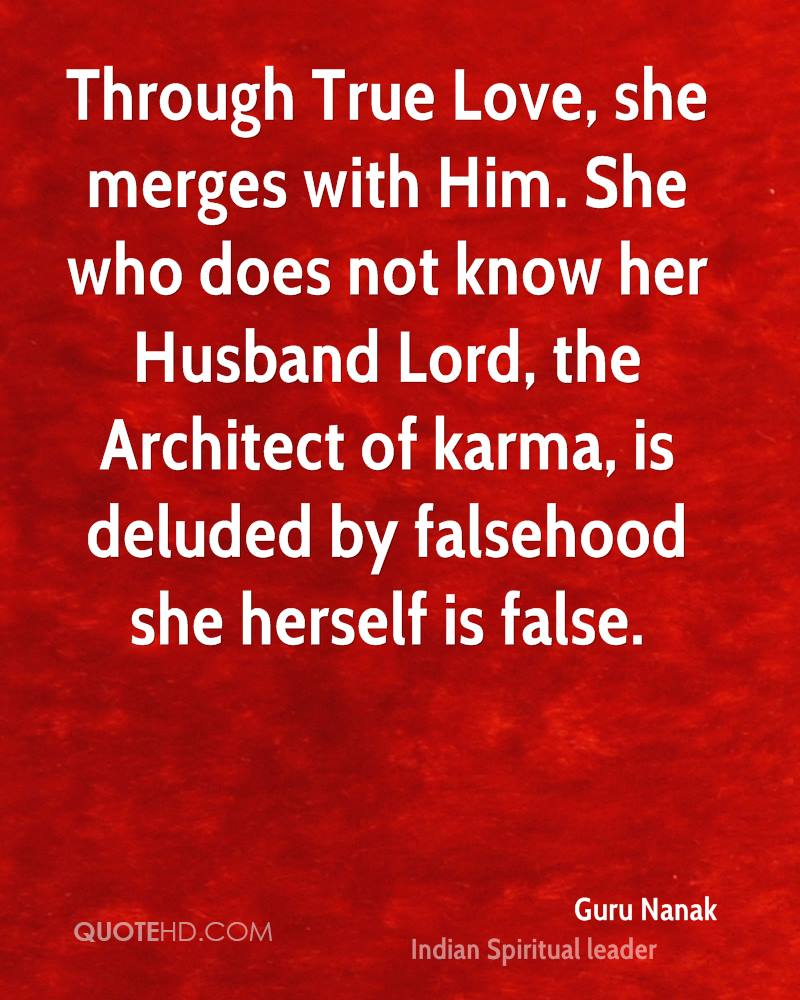 Through True Love She Merges With Him She Who Does Not Know Her Husband