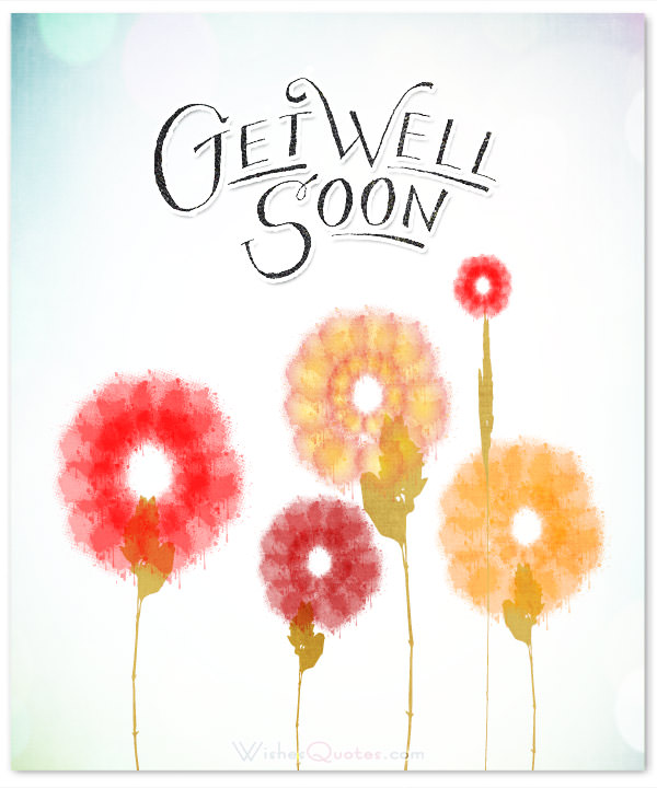 Your Partner Gwr Well Soon Card Flowers