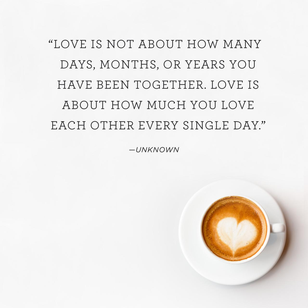Quote Above Background Image Love Is Not About How Many Days Months
