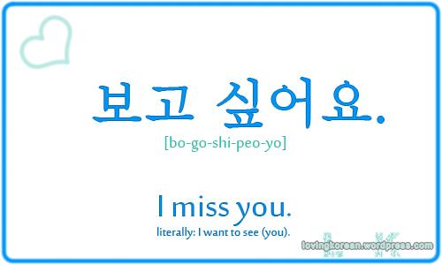 I Miss You In Korean