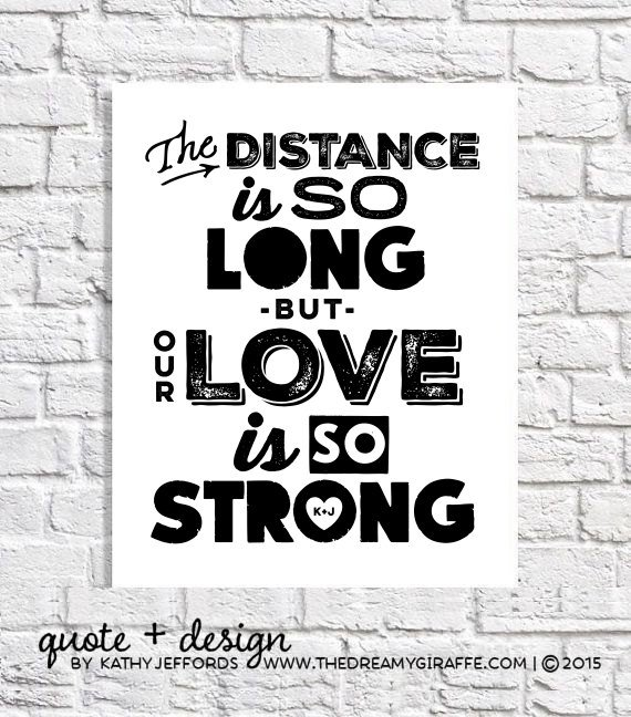 Long Distance Quote Art Navy Girlfriend Gift For Marine Girlfriend Army Girlfriend Air Force Girlfriend Fiance Gift Military Deployment Gift