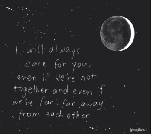 Love Quotes Moon And Sad Image