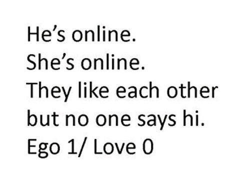 Ego Love Story And Online Image