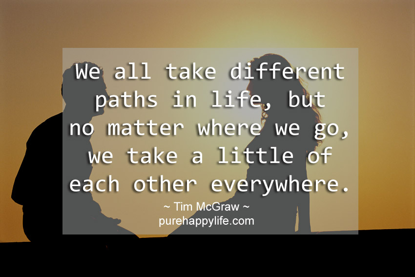 Love Quote Different Path