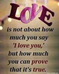 New Cute True Love Quote Image How Much You Say I Love Yo
