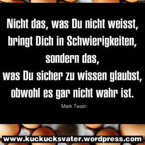Von Mark Twain Zitat Kuckucksvater