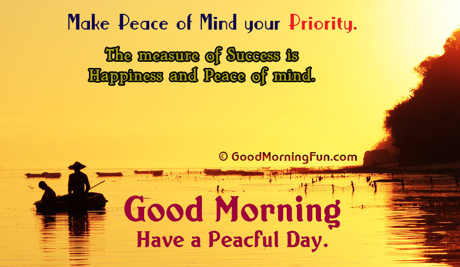 Peaceful Morning Peace Of Mind Inspirational Quote