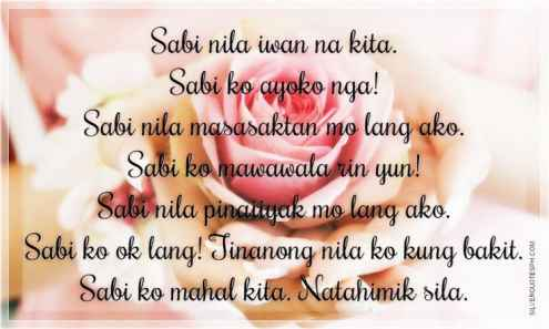 Text Messages Tagalog Love Quotes