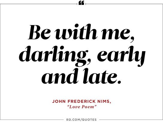 John Frederick Nims Love Poem