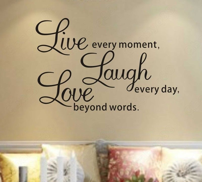 Wall Decal Quotes Sq Diy Live Laugh Love Quote Vinyl Decal Removable Art Wall Stickers