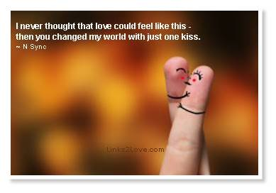 You Changed My World With Just One Kiss