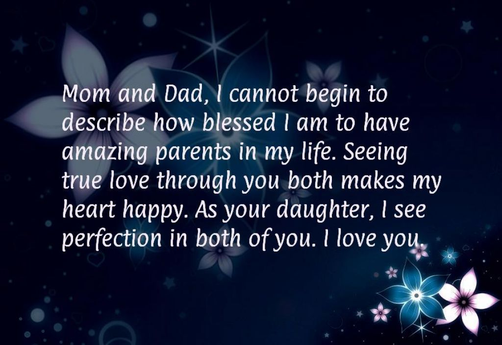 Quotes For Parents Anniversary With Flower Background