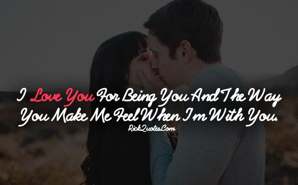 Love Quotes The Way You Make Me Feel Couple Love Kiss Hug Romantic