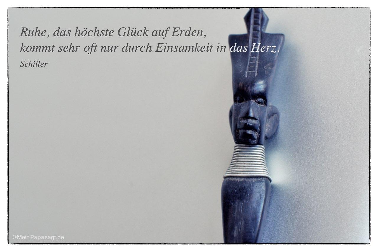 Afrikanischer Briefoffner Mit Dem Schiller Zitat Liedtext Ruhe Das Hochste Gluck Auf Erden