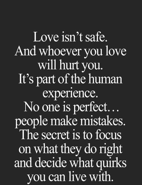 As The Quote Says Description Love Isnt Safe