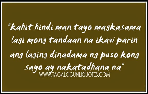 Tagalog Sweet Quotes