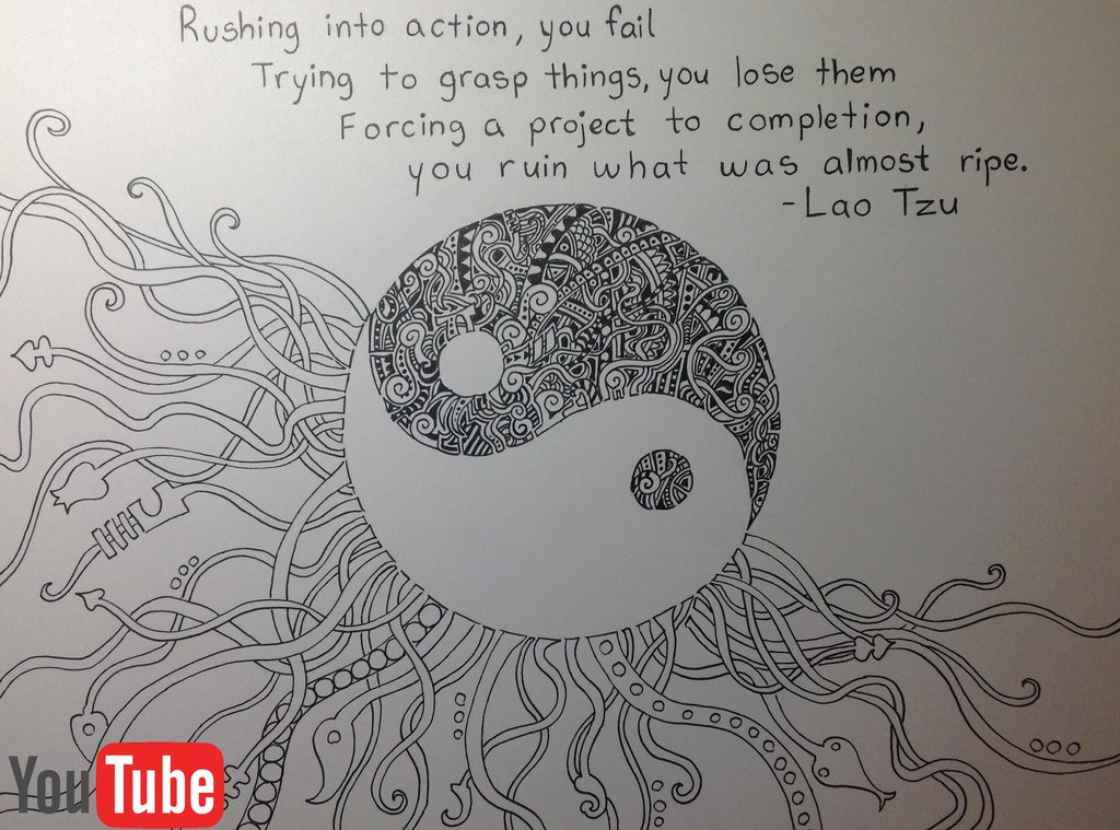 Yin Yang Doodle A Quote To Live By By Akium