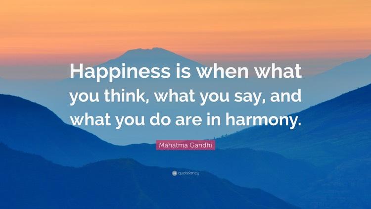 Zitate Gluck Englisch Gandhi Harmonie  Zitate Uber Gluck Und Lebensweisheiten Zum Nachdenken
